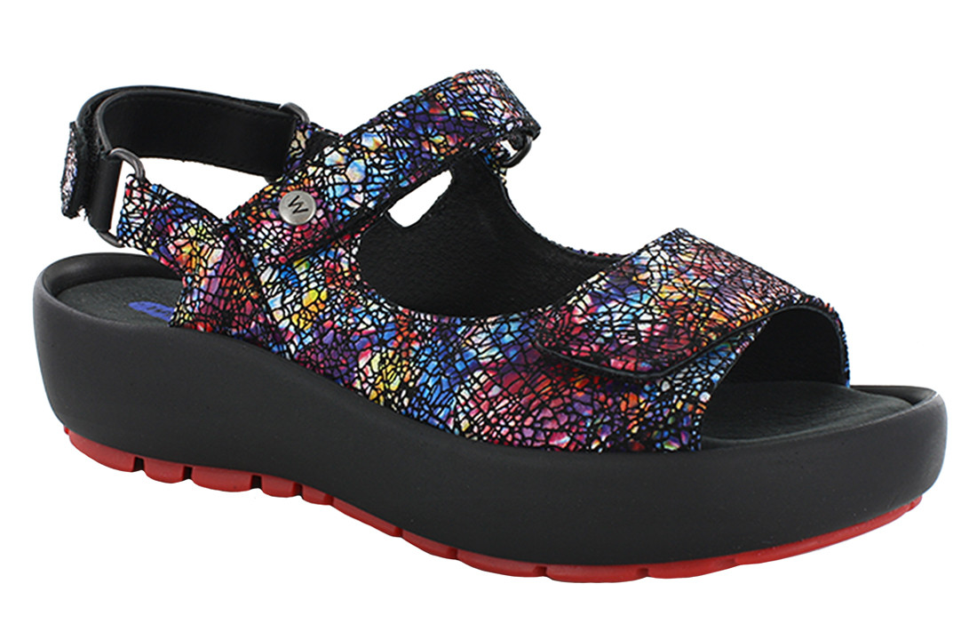 Wolky Multi Black Sandal