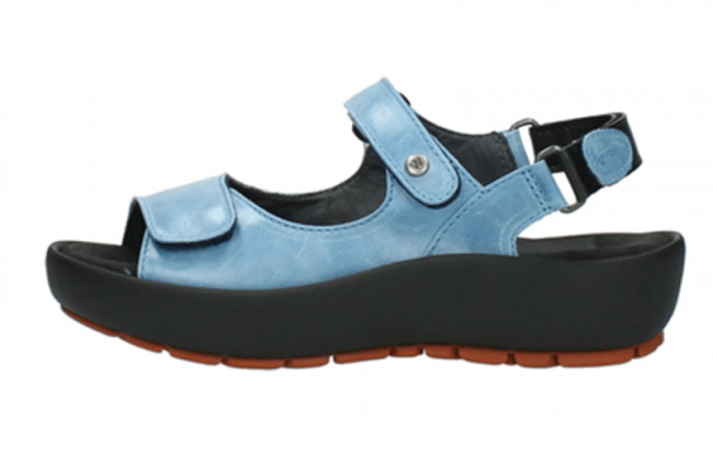 Wolky Lux Denim Crash Suede Sandal