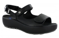 Wolky Rio Code 3325 : Black Mighty Leather Sandal