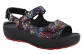 Wolky Rio Code 3325 : Multi Black Crash Suede Sandal