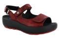 Wolky Rio Code 3325 : Red Crash Suede Sandal