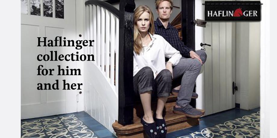 Haflinger slipper collection promotional image 2021