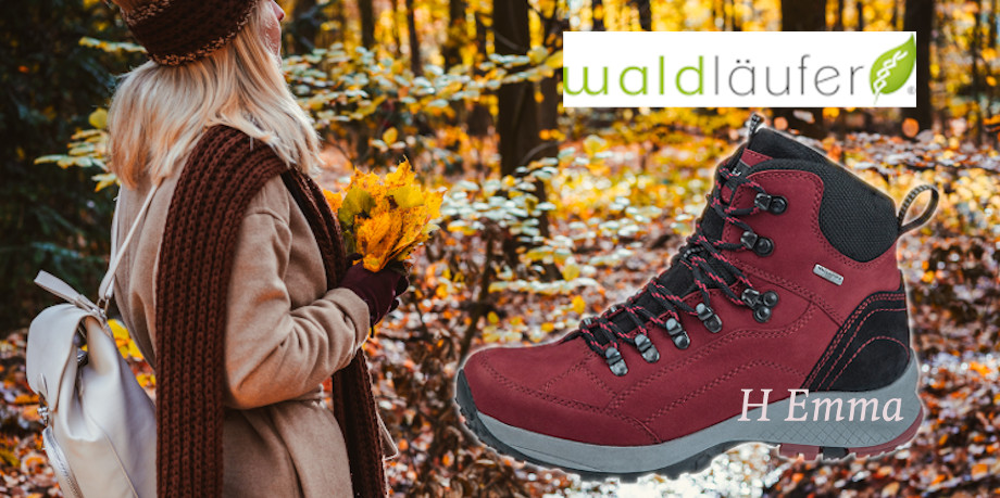 Waldlaufer 2020 winter footwear range promo image - H Emma