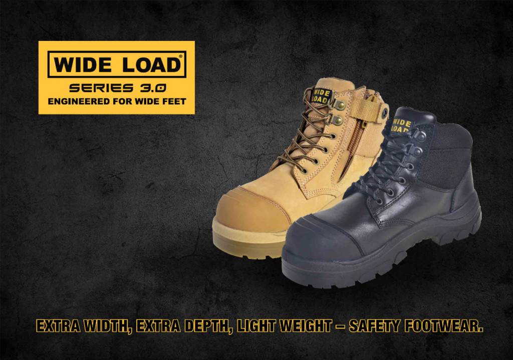 Wide load series 3 safety boots